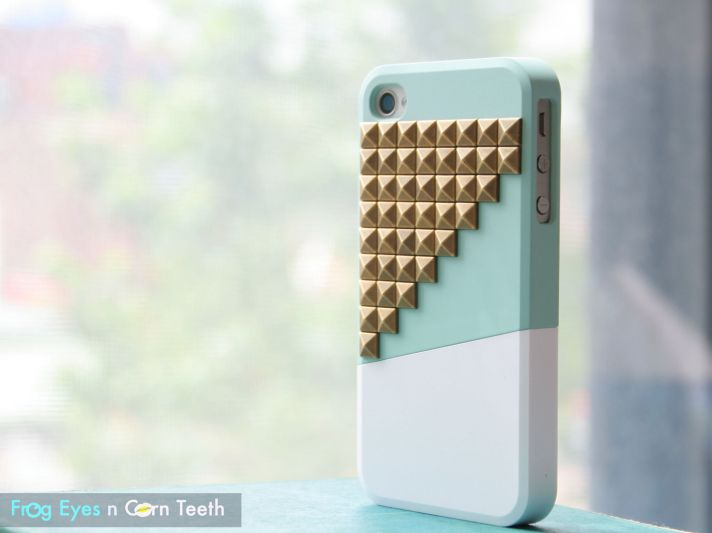 favorite iphone cases for brides modern tech weddings mint white with studs