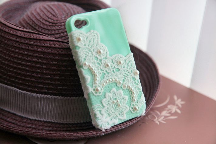 favorite iphone cases for brides modern tech weddings aqua with lace pearls