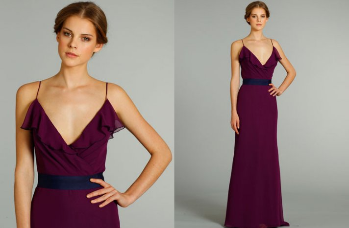 bridesmaids dresses for stylish bridal parties Jim Hjelm from JLM Couture burgundy