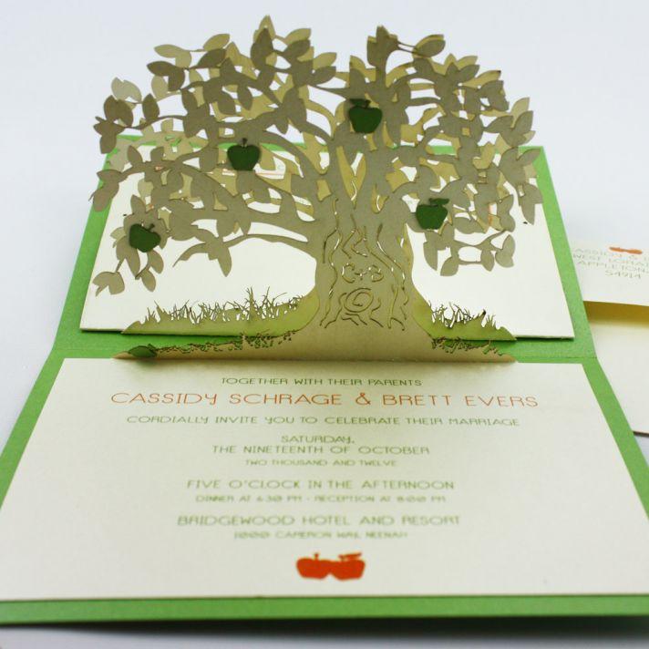 amazing wedding invitation pop up card invites 1