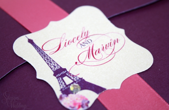 weddings by style Parisian romance wedding decor inspiration purple pink 2