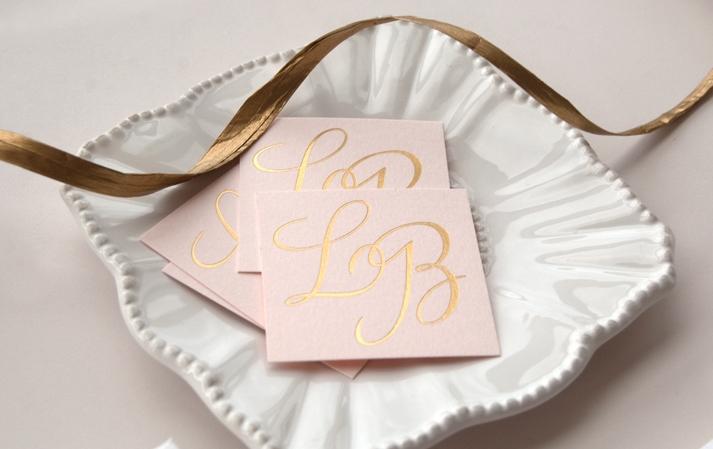 beautiful wedding invitations metallic foil stamping blush pink gold 3