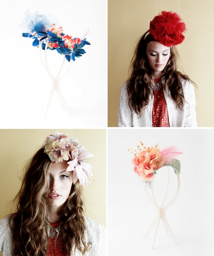 bridal accessories wedding hair flowers vintage ban do
