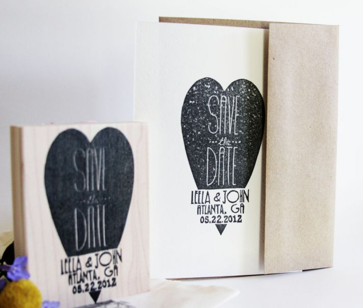 custom wedding ideas save the date stamp