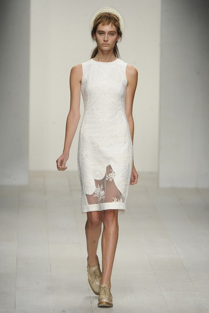 nearly white gowns perfect for the wedding Fashion Week inspiration simone rocha