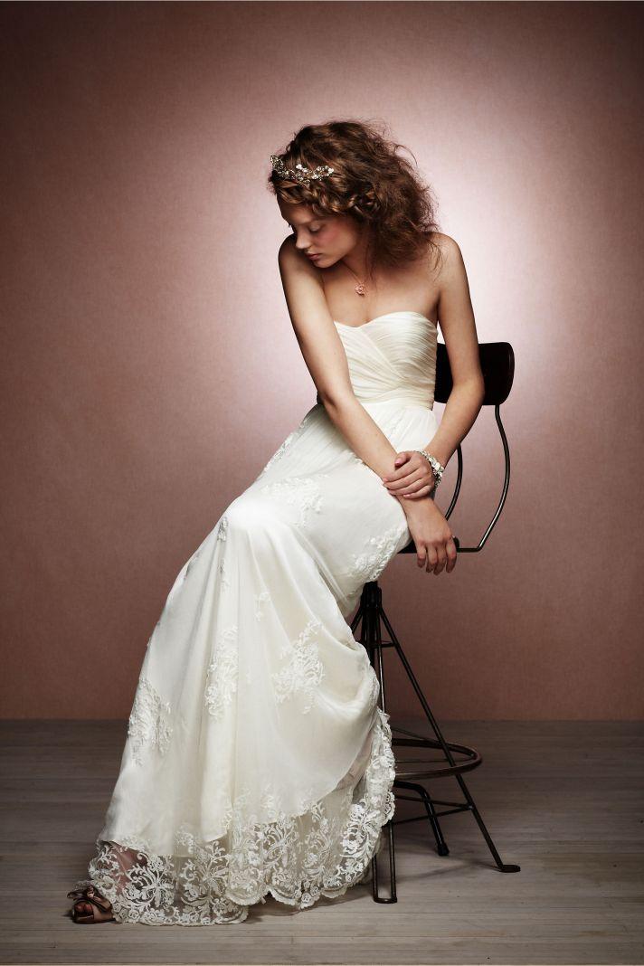 bhldn wedding dress bridal jewelry giveaway
