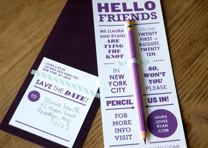 wedding save the dates 5 more brilliant ideas pencil us in