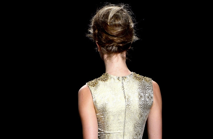 bridal updo wedding hair inspiration fashion week vera wang 2