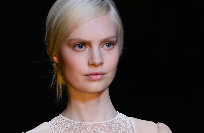 bridal updo wedding hair inspiration fashion week valentino 2