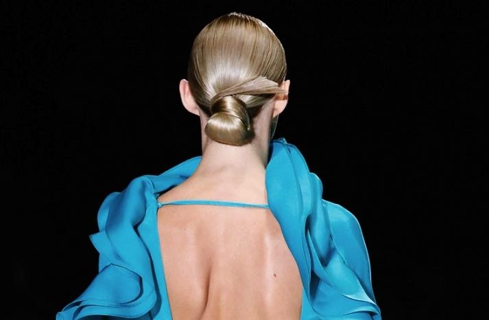 bridal updo wedding hair inspiration fashion week Gucci 4