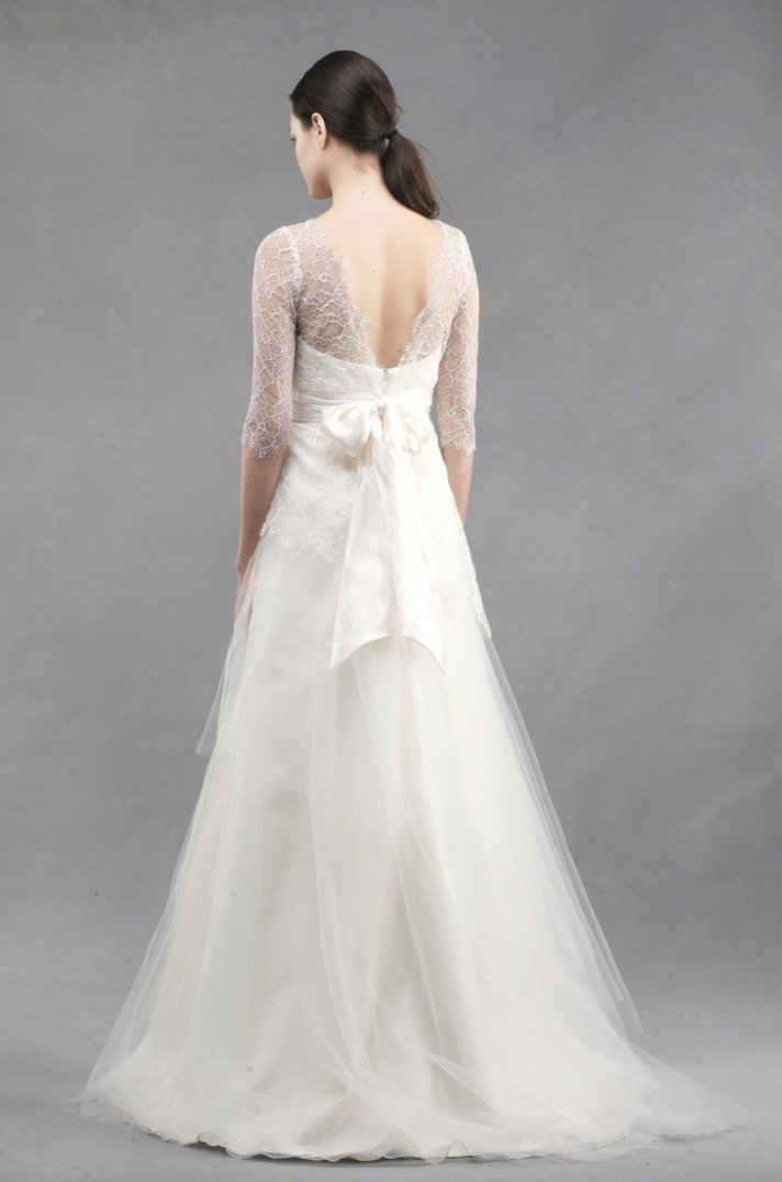 wedding dress by Jenny Yoo Spring 2013 bridal Addison detail