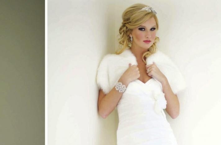 beautiful bridal boleros to top a simple wedding dress fur shrug