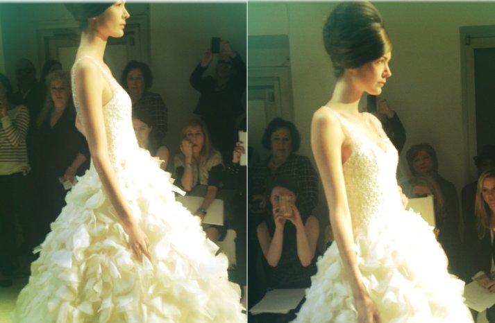 instagram shots from bridal fashion week Spring 2013 wedding dresses 5