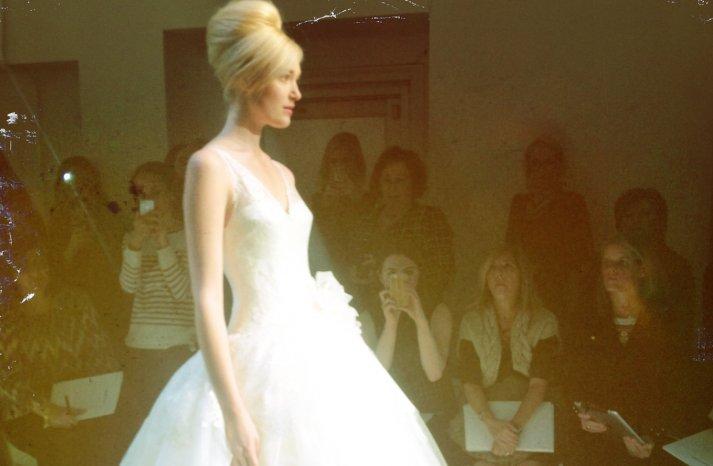 instagram shots from bridal fashion week Spring 2013 wedding dresses 4