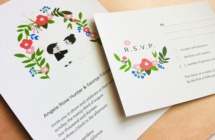 eco friendly wedding finds recycled on Etsy garden invitations