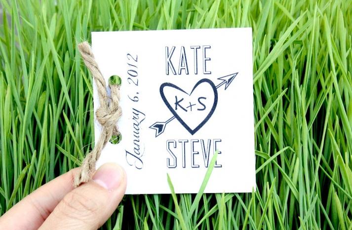 eco friendly wedding finds recycled on Etsy mini wedding programs