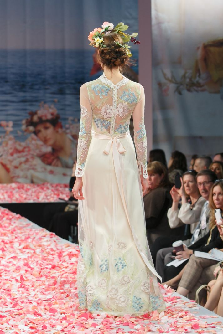 claire pettibone s new wedding dress collection is paradise on earth. Black Bedroom Furniture Sets. Home Design Ideas
