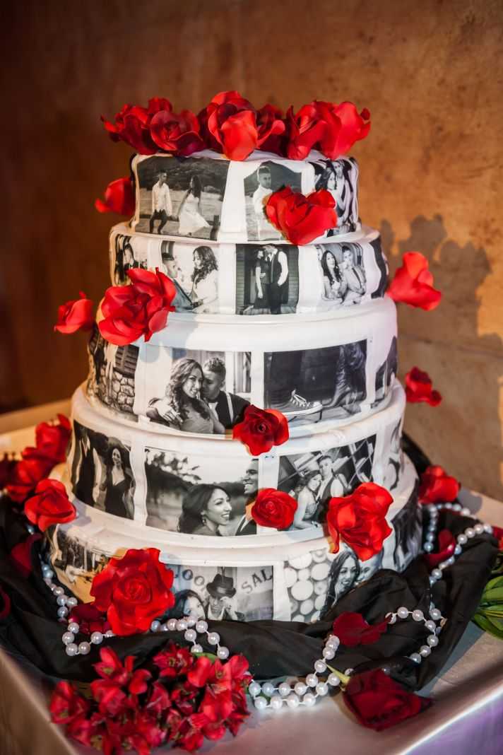 red and black themed wedding cakes epic los angeles wedding that delivers the glitz amp 19065
