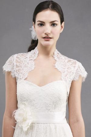 jenny yoo wedding dress style bianca bolero l013 onewed