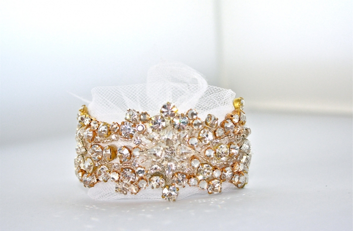 bridal cuff bracelet handmade wedding accessories 9