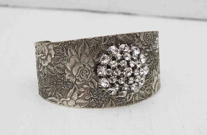 bridal cuff bracelet handmade wedding accessories 3