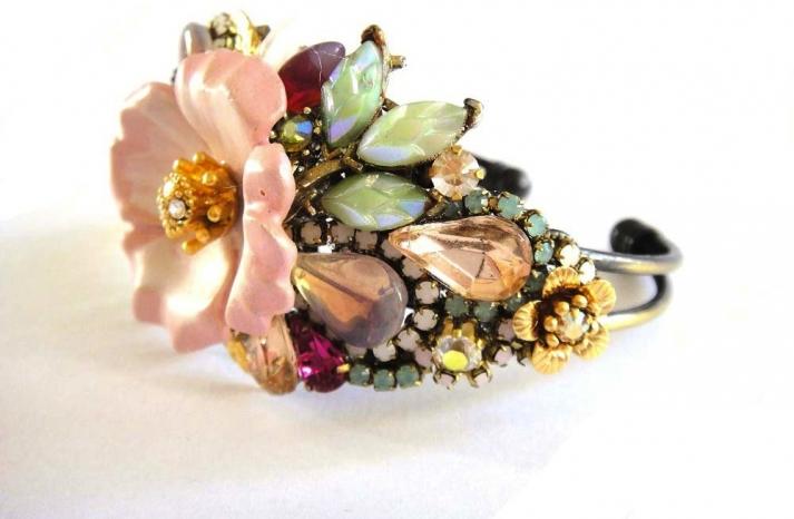 bridal cuff bracelet handmade wedding accessories 16