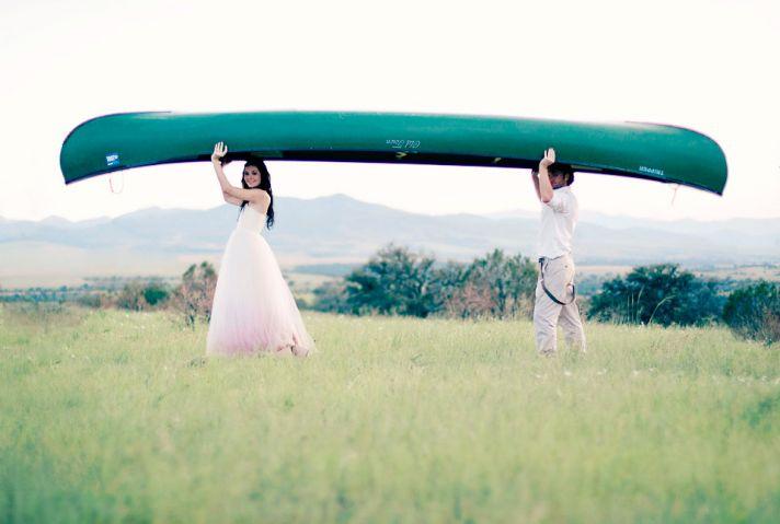 Jessica Biel bridal gown lookalikes alita graham pink wedding dress 5