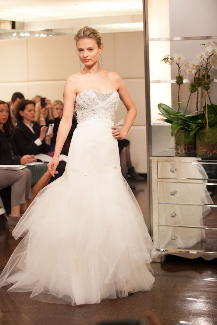 Fall 2013 wedding dress Badgley Mischka bridal gowns Constellation