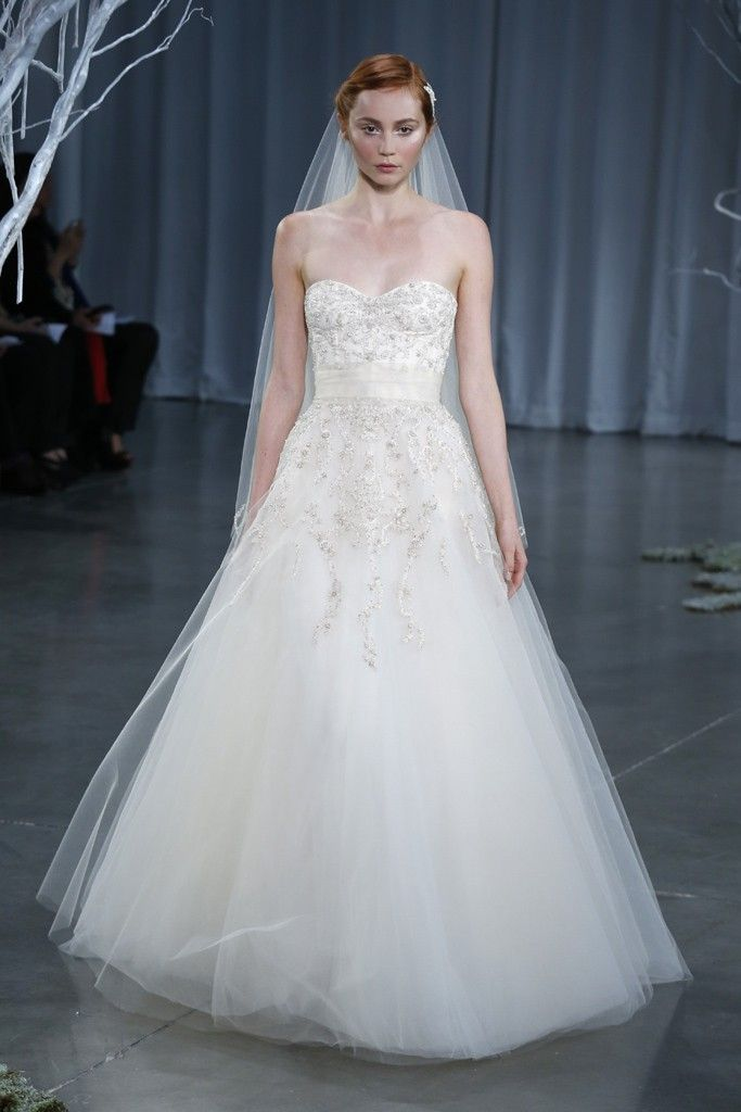 Fall 2013 wedding dress Monique Lhuillier bridal gowns Creme Brulee