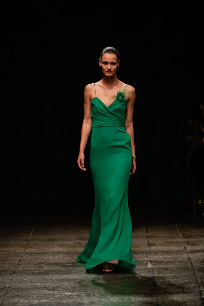 new wedding dresses JLM couture Spring 2013 bridal Jim Hjelm green bridesmaid dress 5304