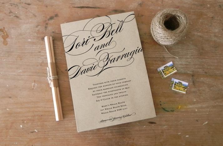 DIY wedding ideas for budget savvy brides calligraphy invite