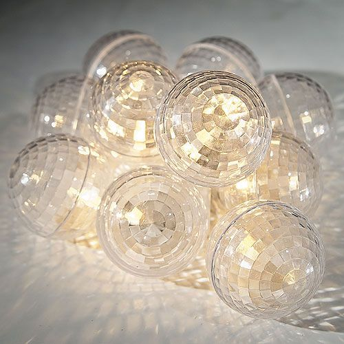 L730 disco ball string lights