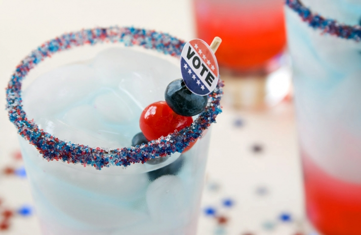 Election Day Inspiration for Patriotic Nearlyweds drink stirs 2
