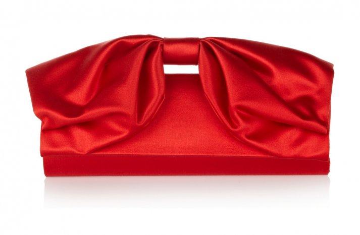 Racy Red Wedding Accessories Valentino satin clutch