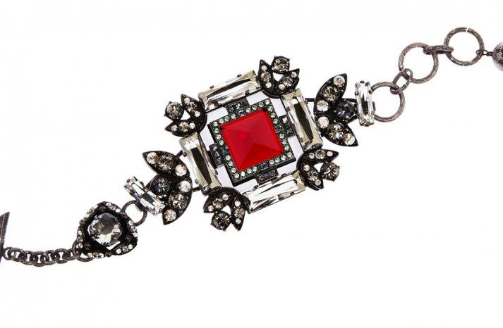 Racy Red Wedding Accessories Lanvin bridal bracelet