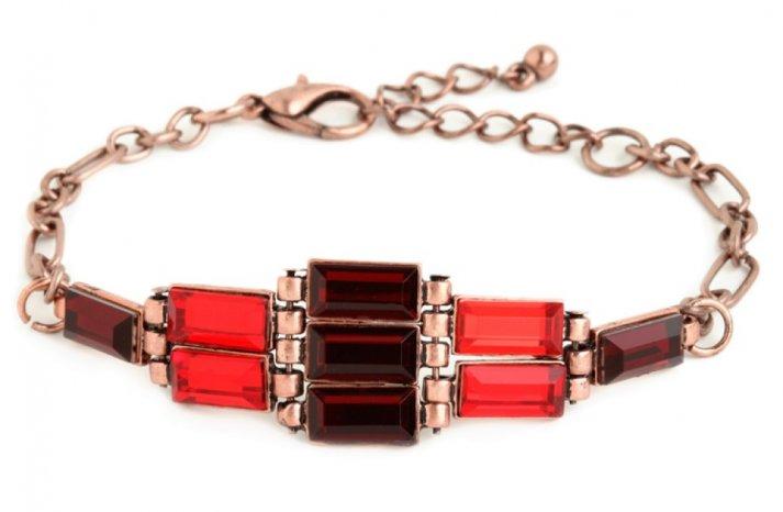 Red Wedding Accessories statement bridal bracelet