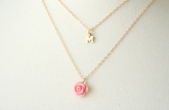 Unique Wedding Gifts for Bridesmaids Initial Jewelry Accessories 16