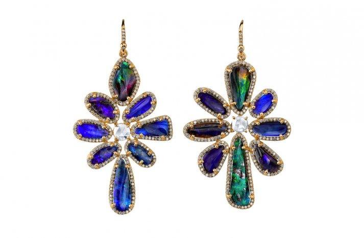 Something Blue Bridal Splurge wedding earrings 2