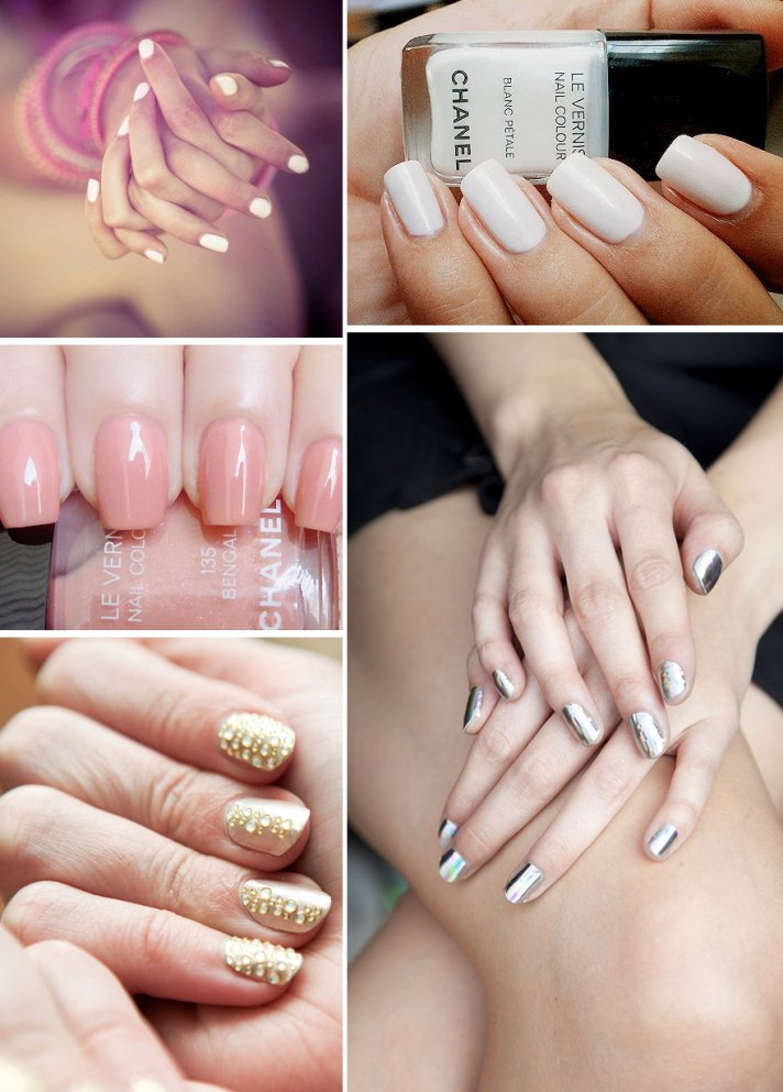 awesome wedding day manicures for beauty loving brides neutrals