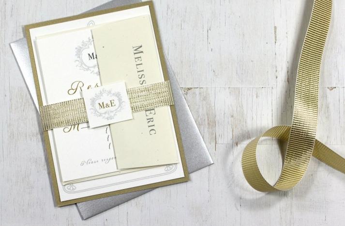 Glittery Gold Wedding Finds for Glam Handmade Weddings elegant invites