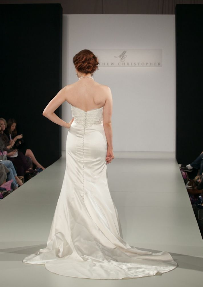 Fall 2013 wedding dress by Matthew Christopher bridal 10