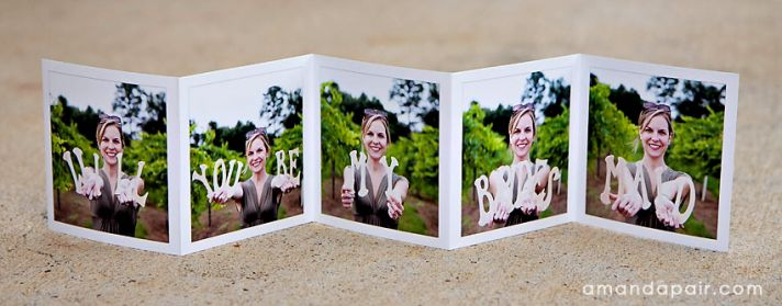 Unique Wedding Ideas to say Will You Be My Bridesmaid photo foldout