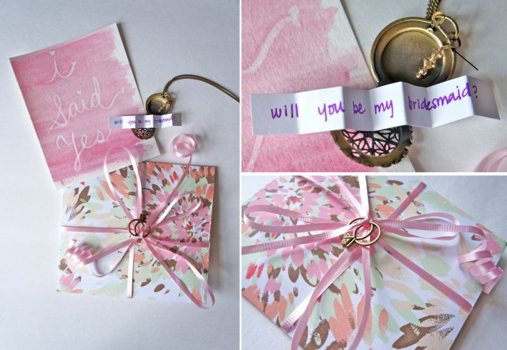 Will You Be My Bridesmaid DIY Lockets