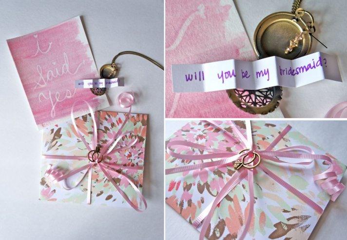 Will You Be My Bridesmaid DIY Lockets