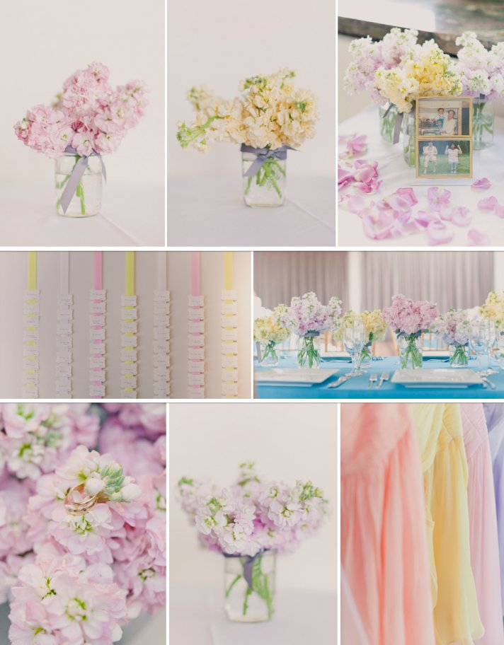 Winter Wedding Ideas Pretty Pastels colorful weddings2