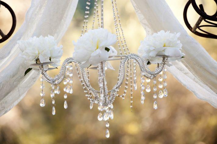 Wedding Ideas We Love Floral Adorned Chandeliers 4