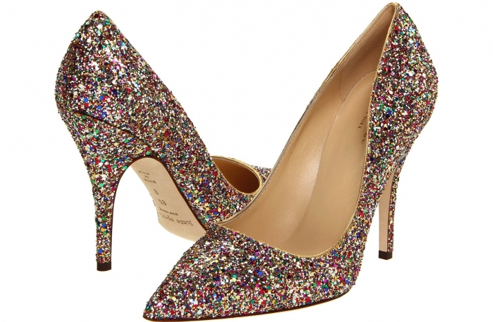 Wedding Accessories Inspiration Shimmery Bridal Heels Kate Spade 2