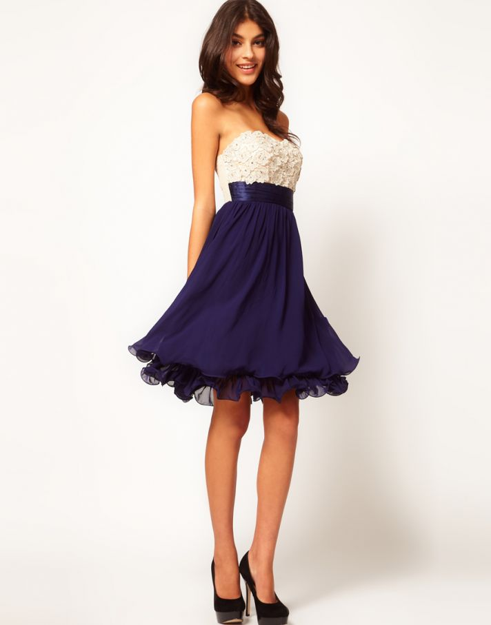 Stylish Bridesmaid Dresses from Asos 2013 Bridal Party Trends color contrast