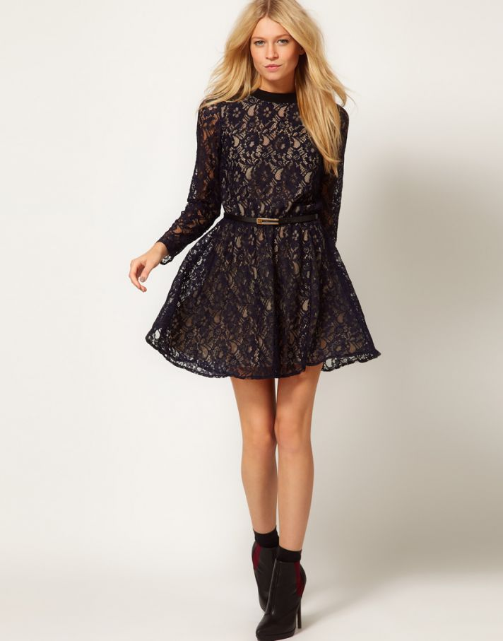 Stylish Bridesmaid Dresses from Asos 2013 Bridal Party Trends lace with sleeves