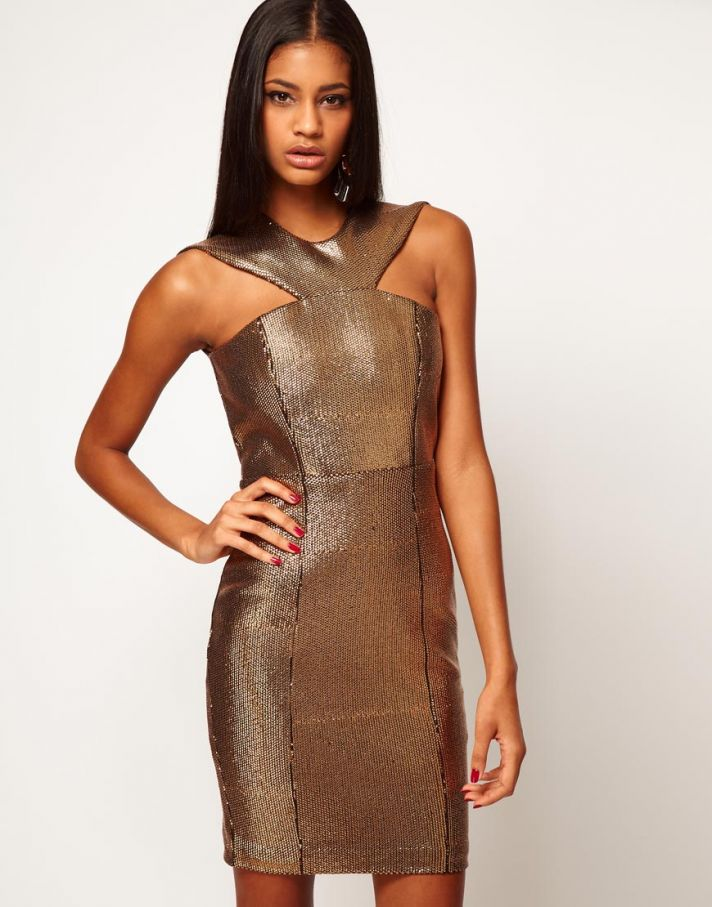 Stylish Bridesmaid Dresses from Asos 2013 Bridal Party Trends bronze